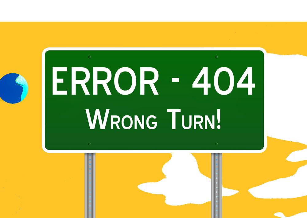 Error Sign Hubers Bus Service